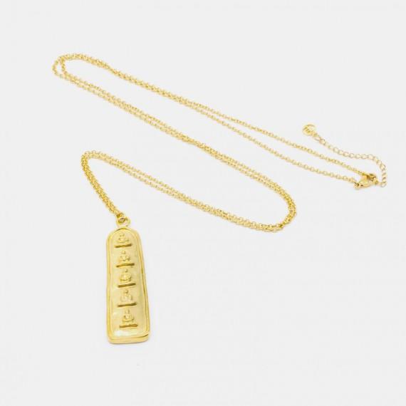 5 Buddha Halsband 90 Guld