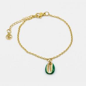 Sea Shell Armband Grön