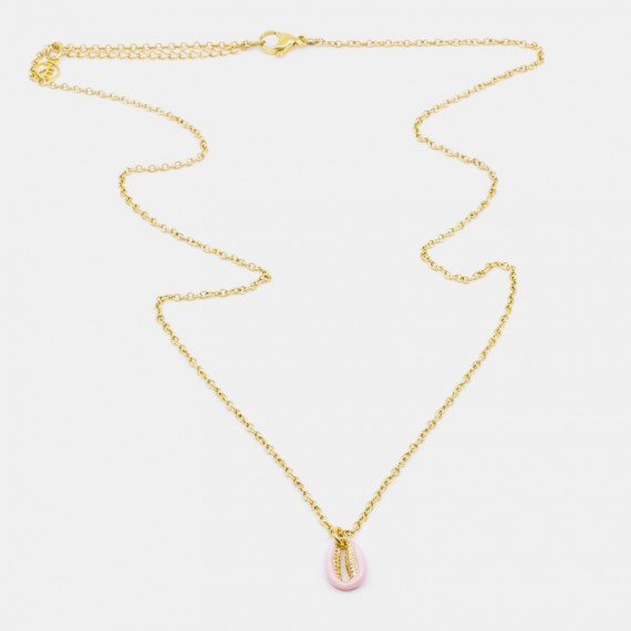 Sea Shell Halsband 60 Rosa