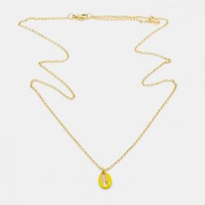 Sea Shell Halsband 60 Gul