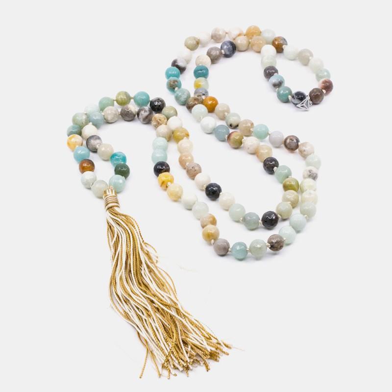 Mala Halsband Amazonit Y-YOGA