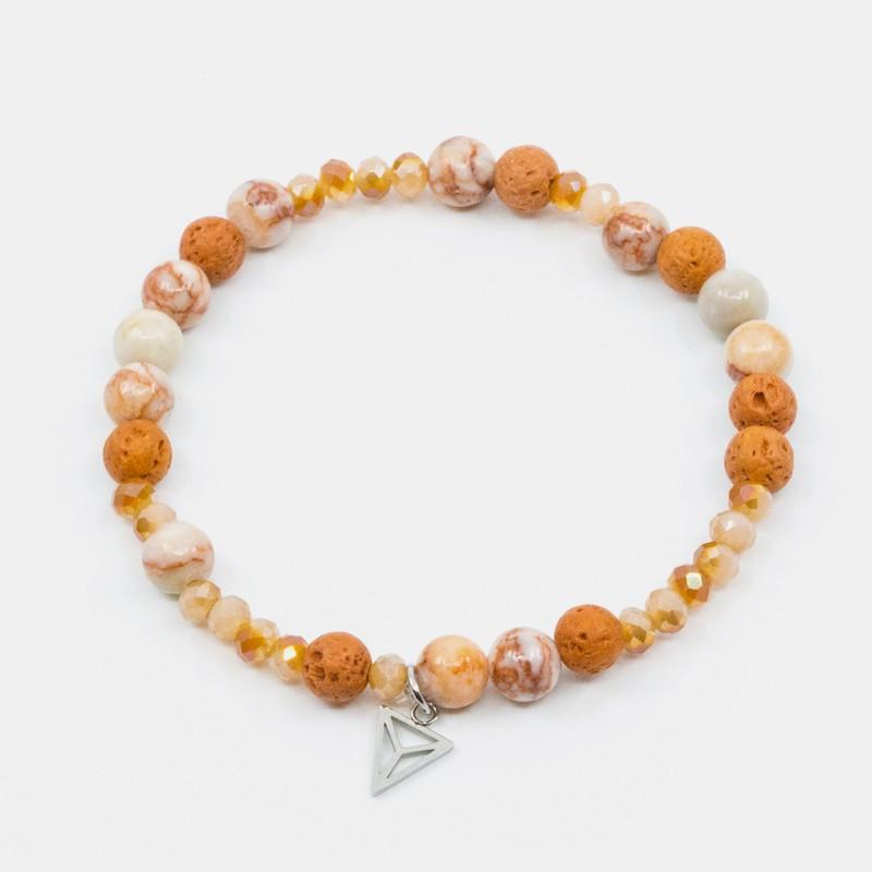 Agat Armband Orange Y-YOGA