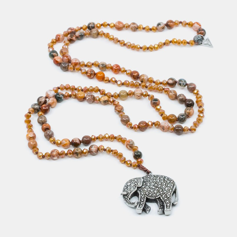 Elephant Halsband Orange Y-YOGA