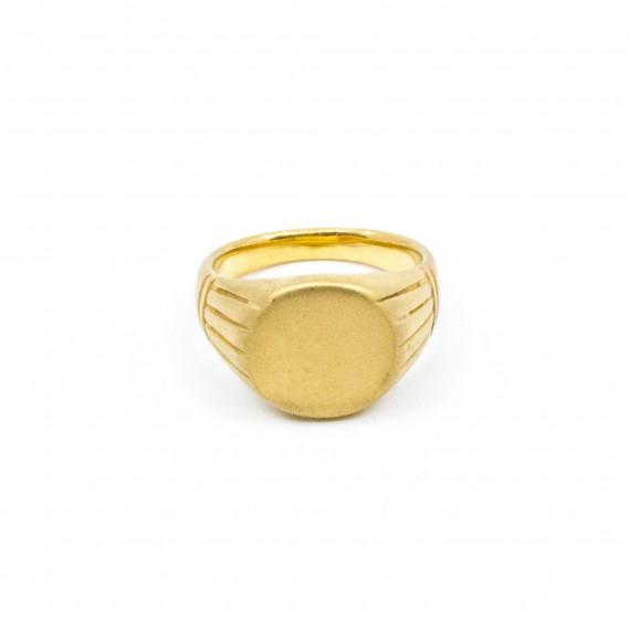 Round Signet Ring Guld