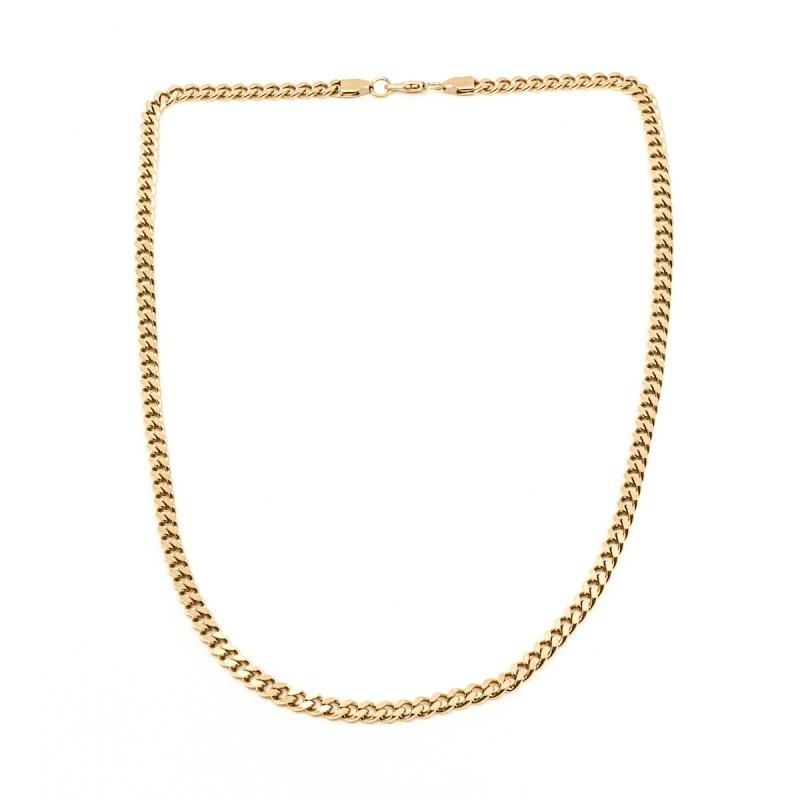 Burshed Flat Chain 55cm Guld
