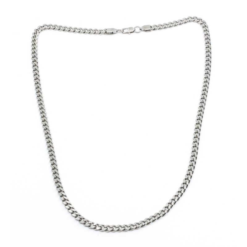 Brushed Flat Chain 55cm Silver