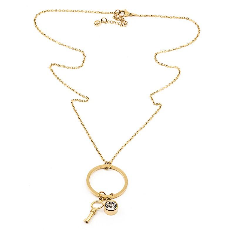 Crystal Key Halsband 60 Guld