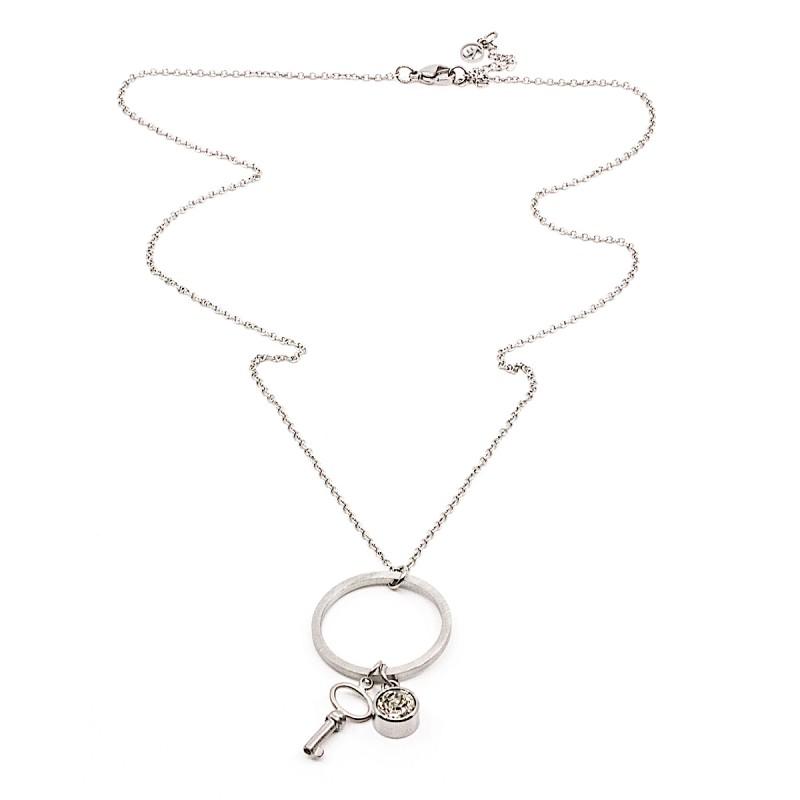 Crystal Key Halsband 60 Silver