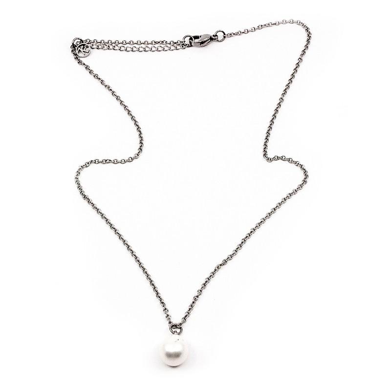 Hanging Pearl Halsband 45 Vit