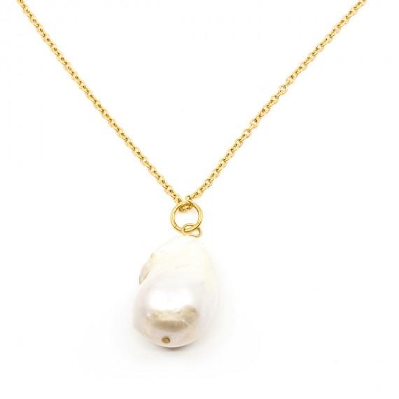 Pearl Halsband 90cm Guld