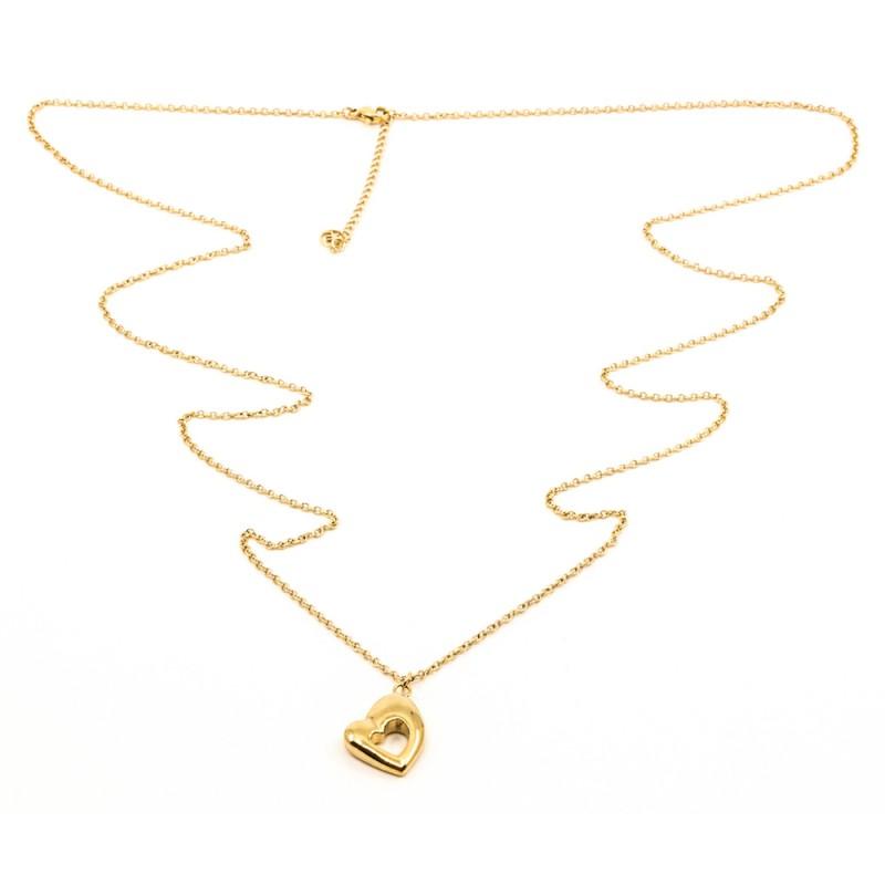 Retro Heart Halsband 90cm Guld