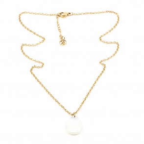 Opal Halsband 42cm Guld