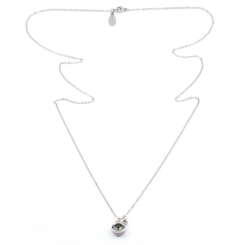 Swarovski Halsband 90cm Silver