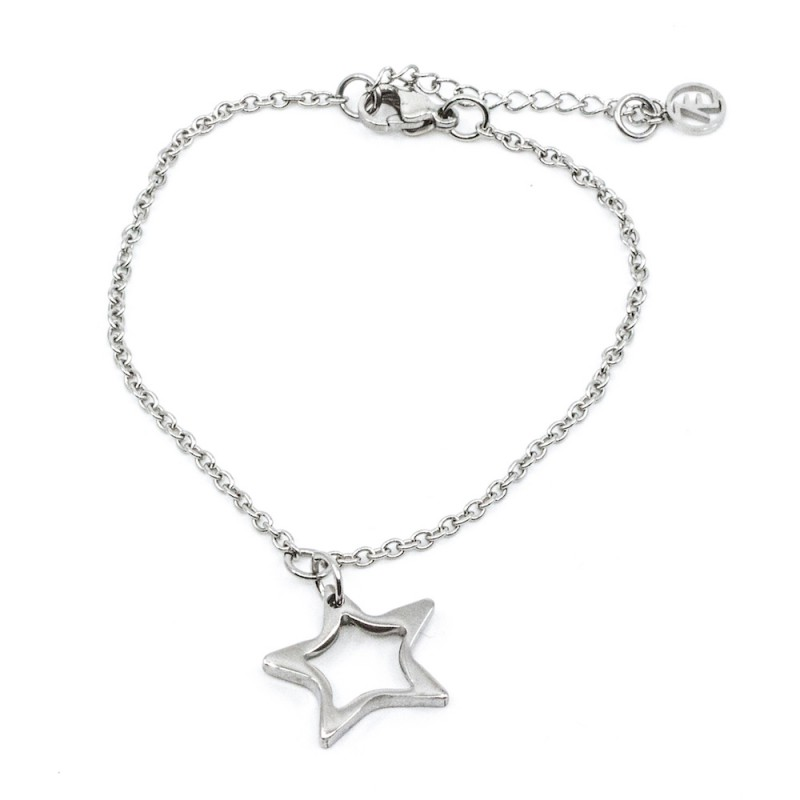 Hollow Star Armband Silver