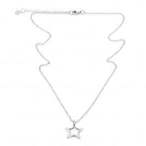 Hollow Star Halsband 42cm Silver