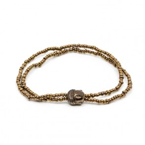 Mini Buddha Armband Brun