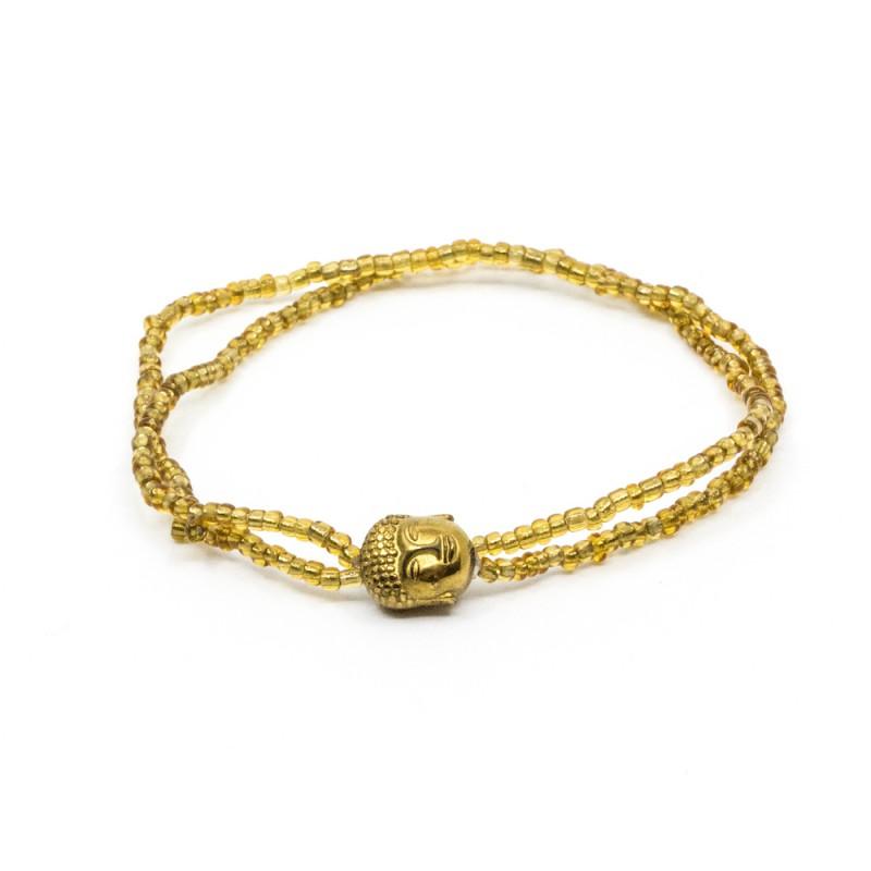 Mini Buddha Armband Guld