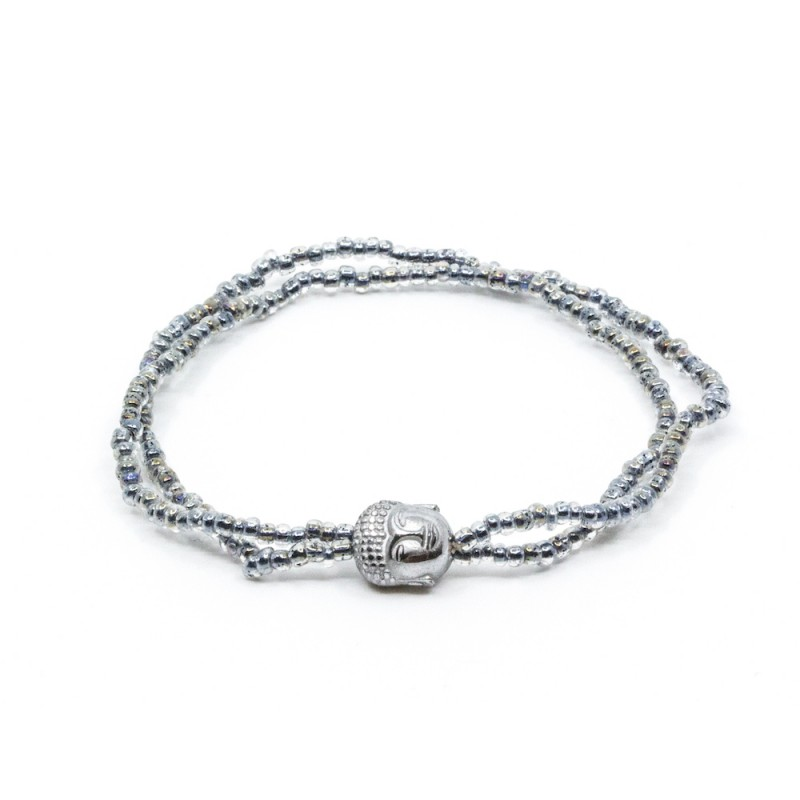 Mini Buddha Armband Silver