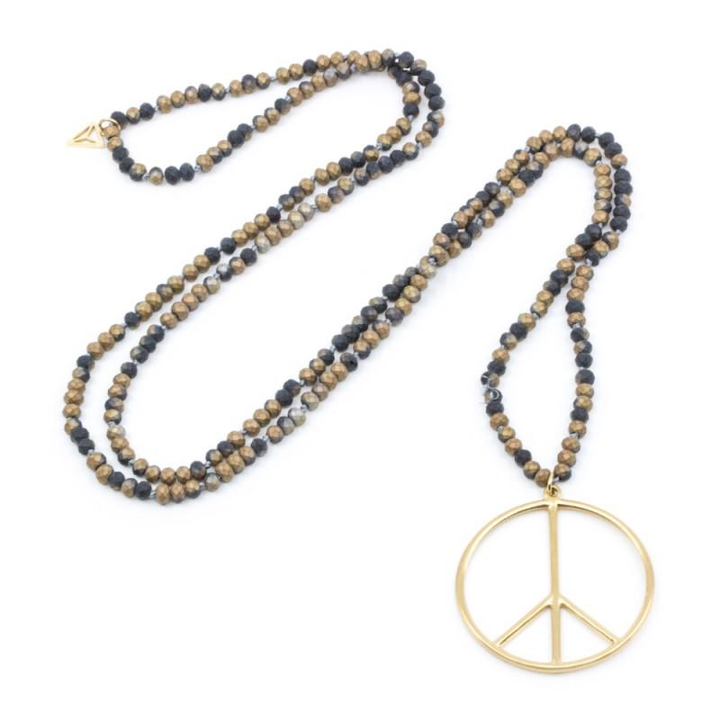 Peace Halsband Brun
