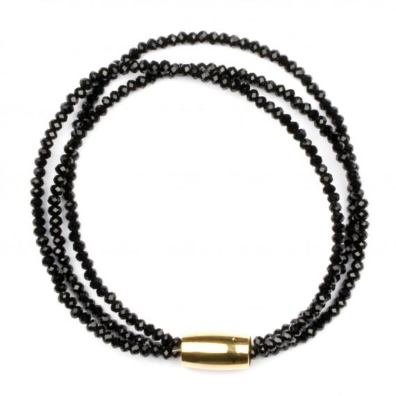 Tripple Sparkling Armband Svart/Guld