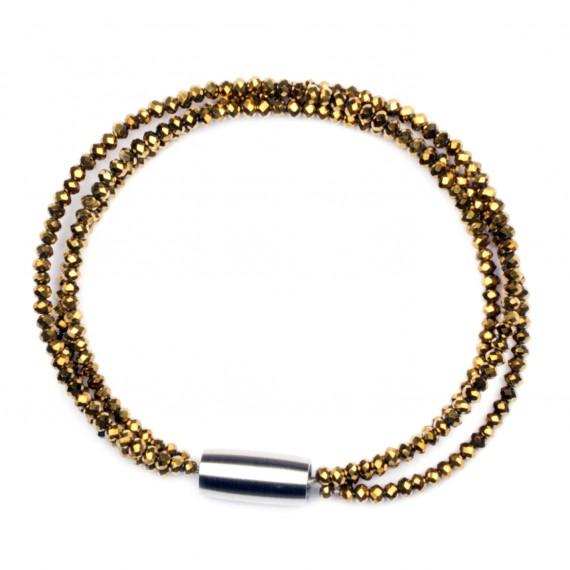 Tripple Sparkling Armband Guld