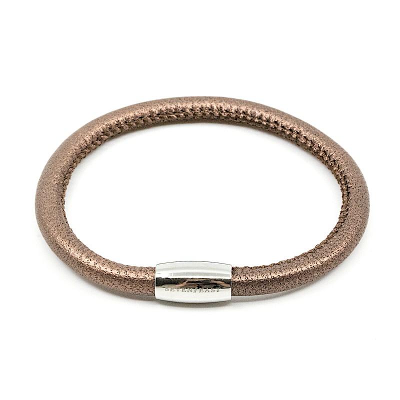 Leather Armband Brun
