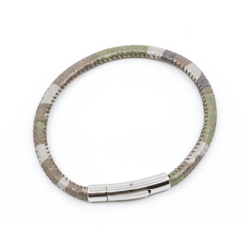 Camo Armband Silver