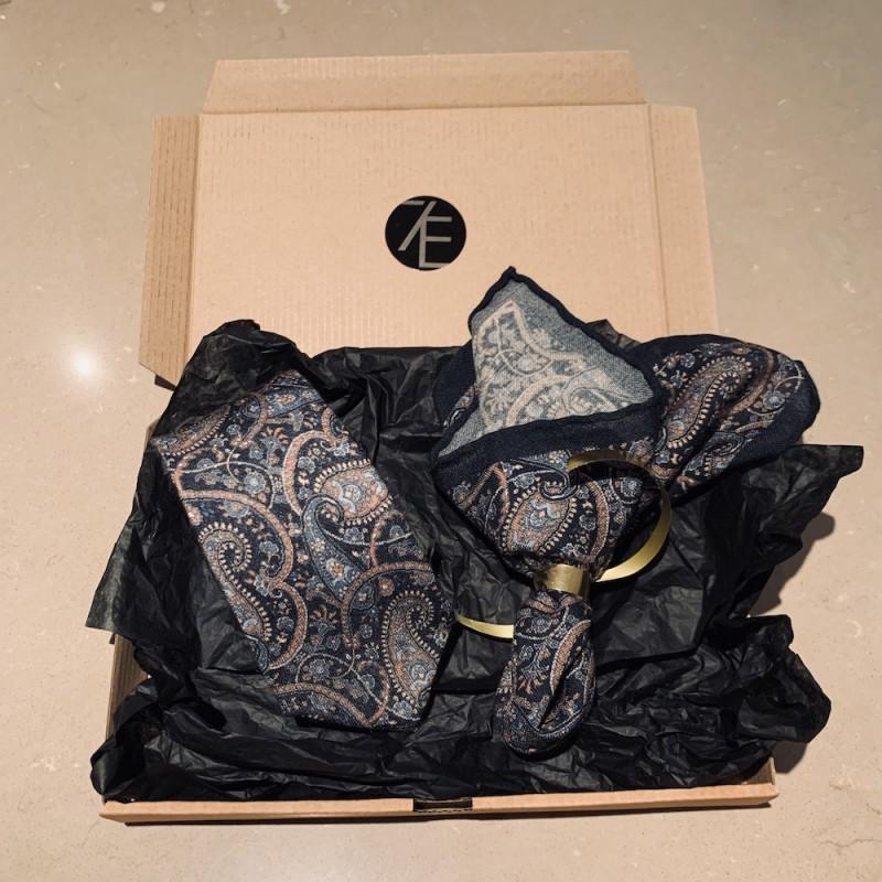 Blue Christmas Gift Set - Slips och Näsduk