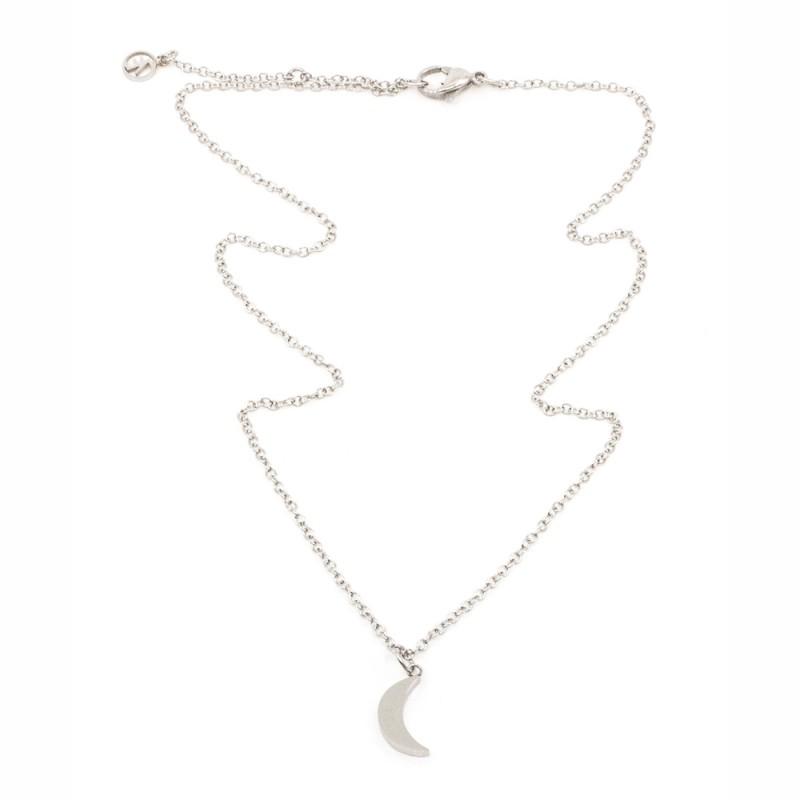 Moon Halsband 42cm Silver