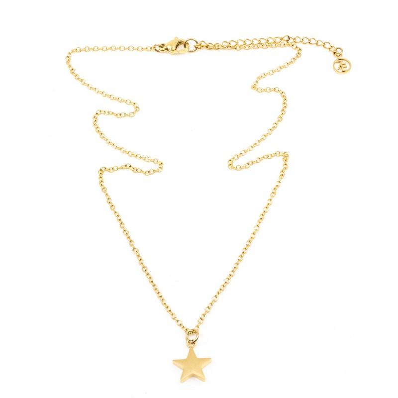 Star Halsband 42cm Guld