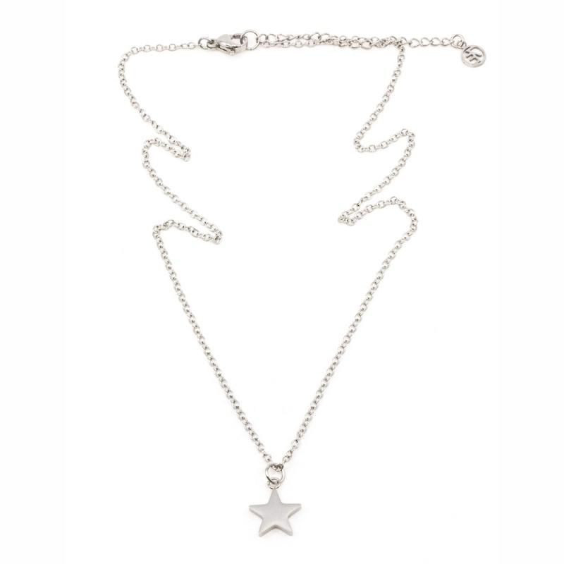 Star Halsband 42cm Silver