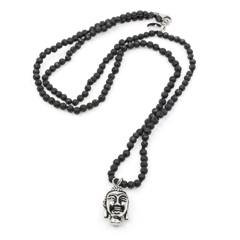Buddha Men Halsband Svart