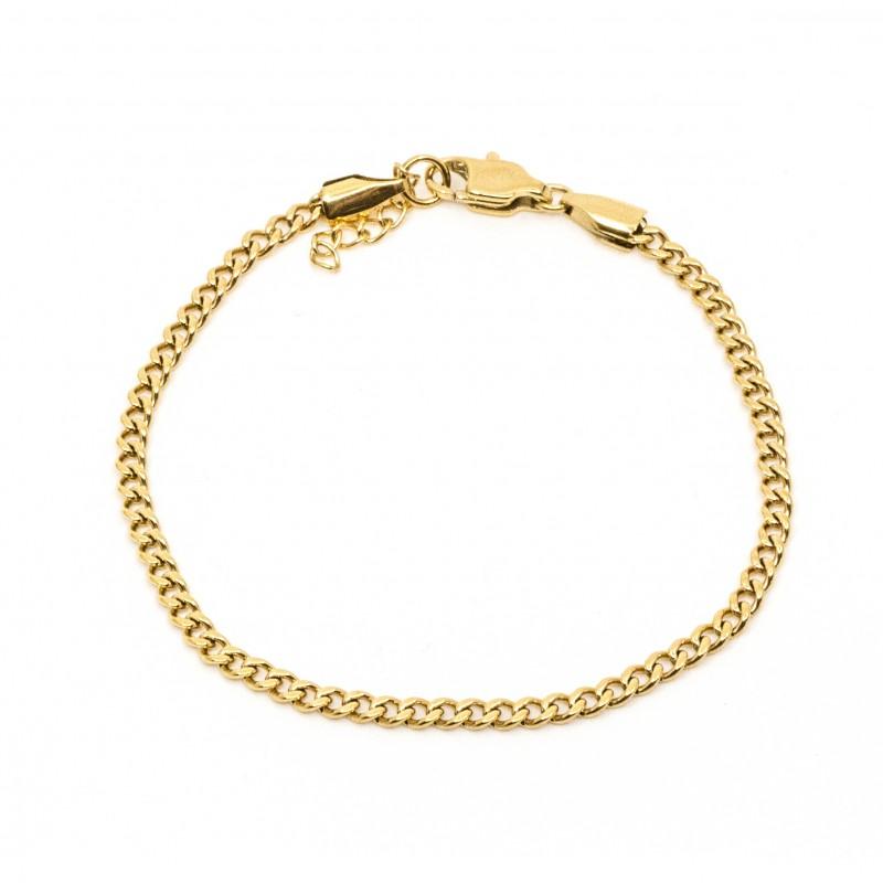Mini Flat Chain Armband Guld
