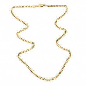 Mini Flat Chain Halsband 45cm Guld