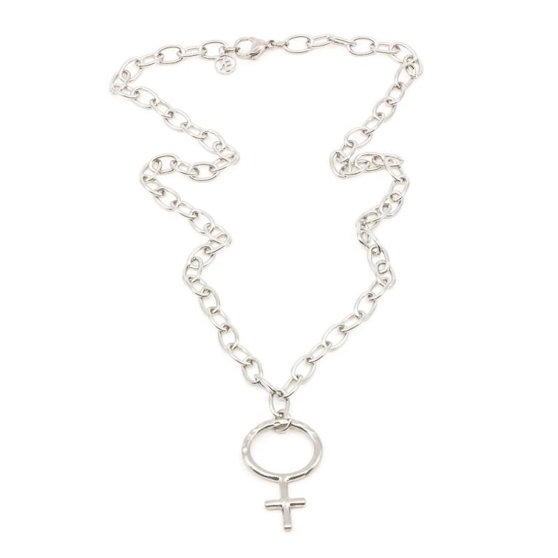 Big Venus Halsband 42 Silver