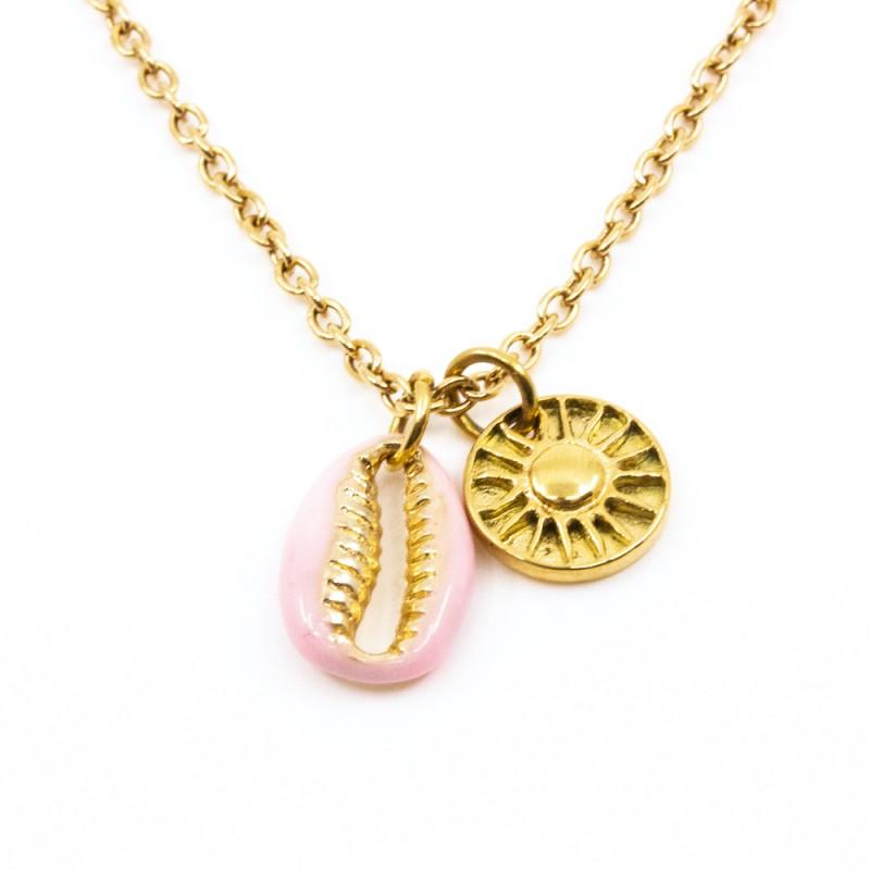 Sea Shell Halsband 40cm Guld