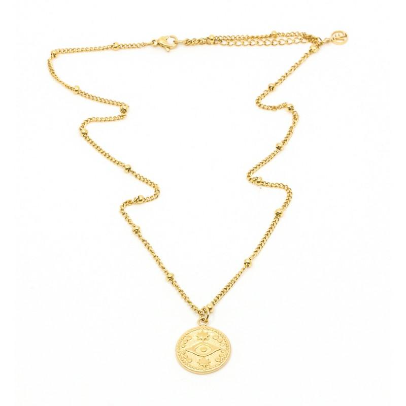 Eye amulet Halsband 42cm Guld