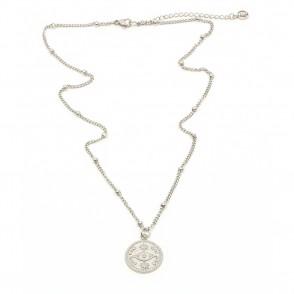 Eye Amulet Halsband 42cm Silver