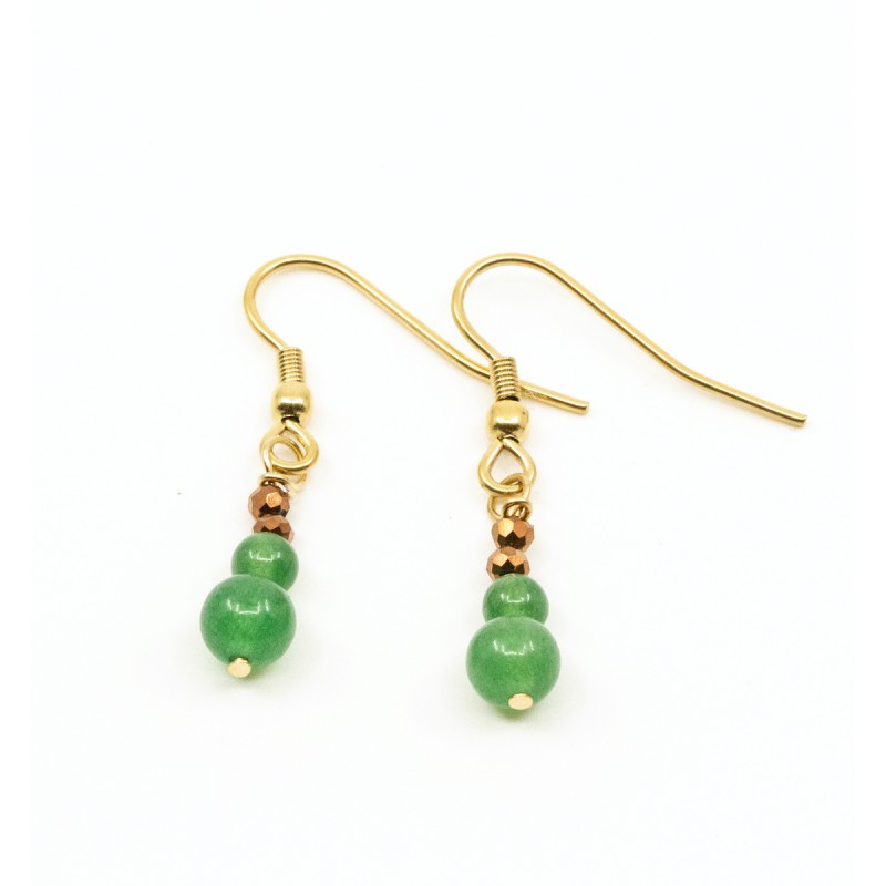 Beads Örhänge Grön