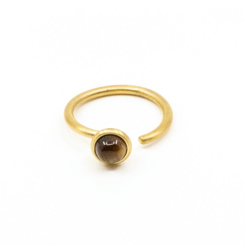 Beads Ring Tigeröga