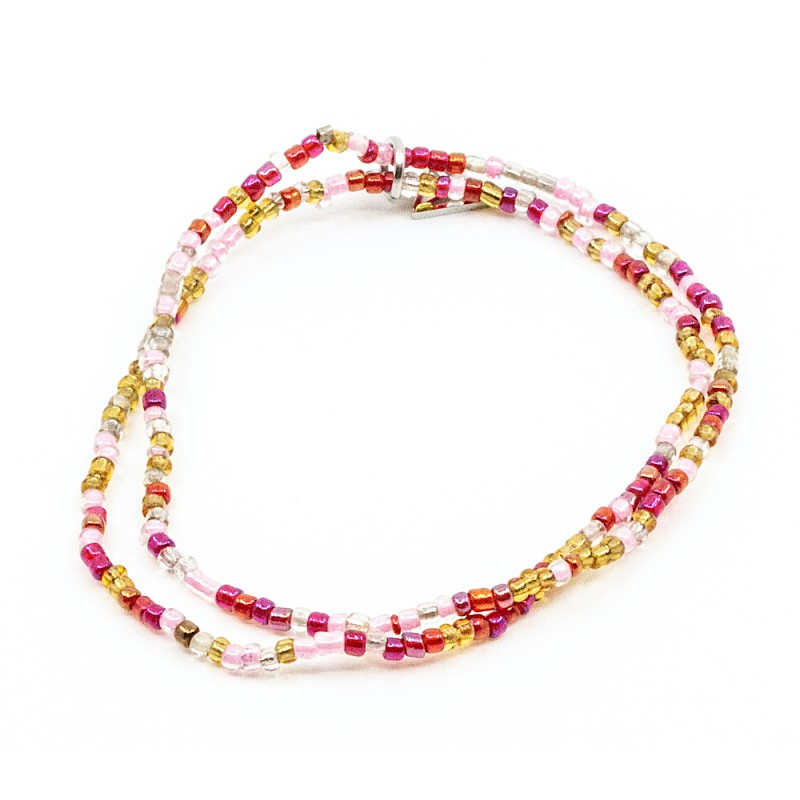 Double Colorfull Armband Rosa