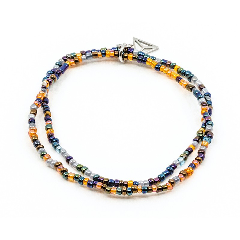 Double Colorfull Armband Blå