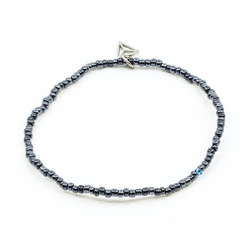 Single Colorfull Armband Mörkblå