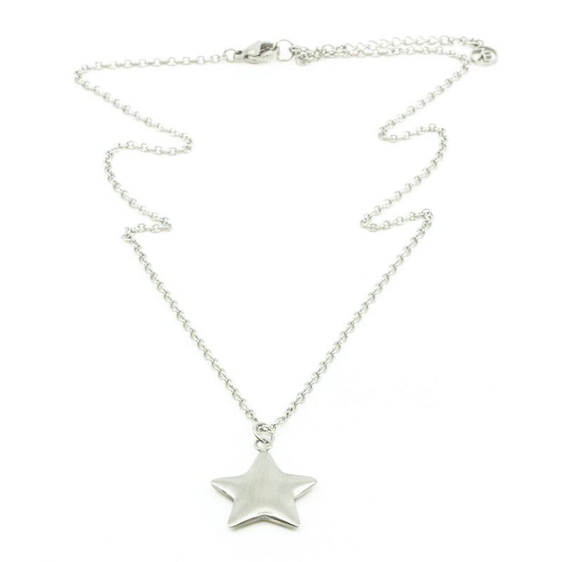 Soft Star Halsband 42cm Silver