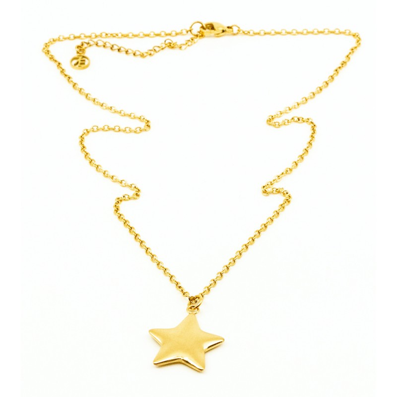 Soft Star Halsband 42cm Guld