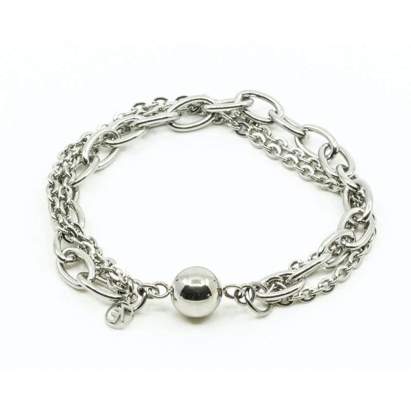 Tripple Chain Armband Silver