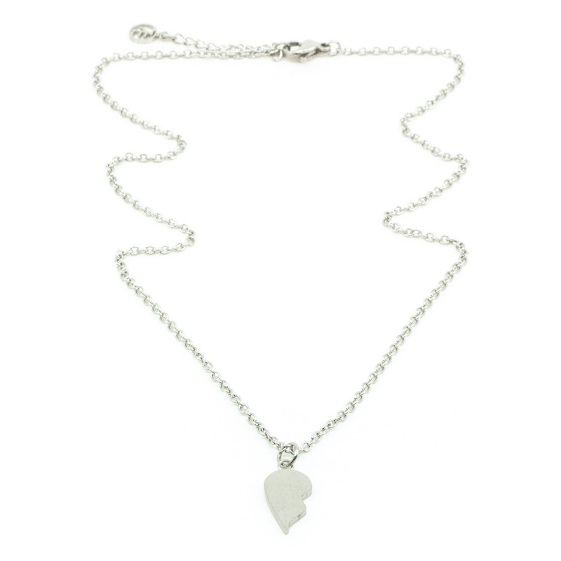 Without you I'm Half Halsband 40cm Silver