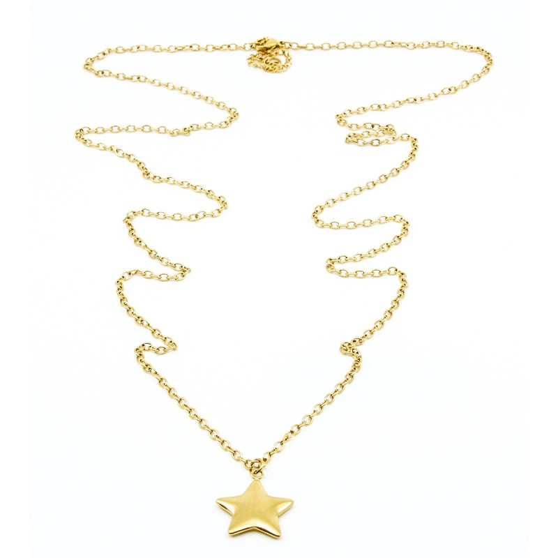 Brushed Star Halsband 90cm Guld