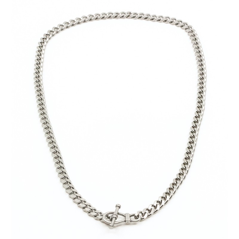 Big Flat Chain Halsband Silver