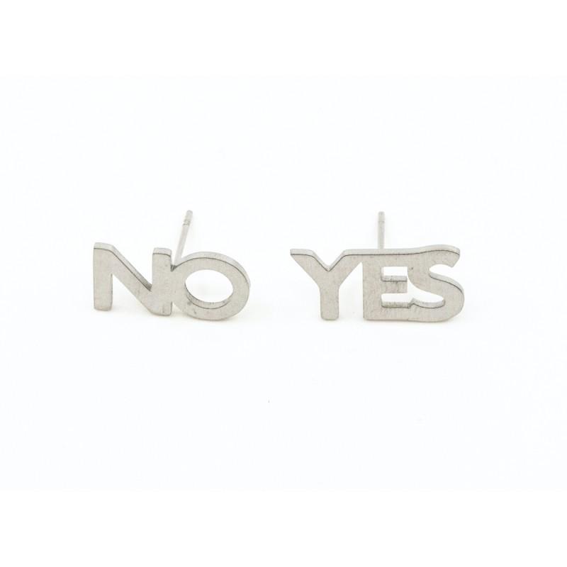 YES or No Örhänge Silver